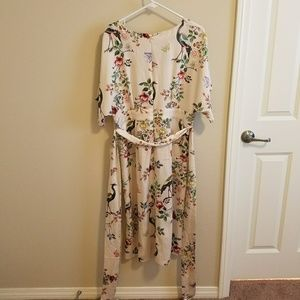 9d5052cc0b0fd Anthropologie Dresses | Avian Kimono Midi Dress By Dra Los Angeles ...